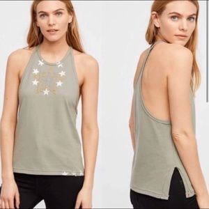 3 for $30🌺 Free People Army Lieutenant Tank Top